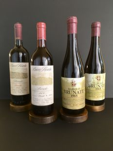 1979 Barolo Brunate Ceretto Bricco Rocche DOCG x 1 bottle - 1986 Barolo Brunate Ceretto Bricco Rocche DOCG x 1 bottle - 1968 Barolo Brunate Cogno - Marcarini DOC x 2 bottles / 4 bottles total.