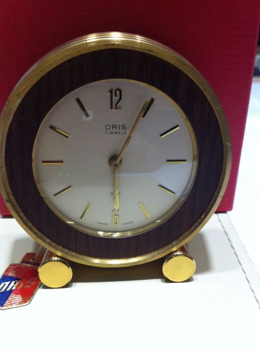 Oris table alarm clock in bronze - 1970s