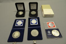The Netherlands - 50 guilders 1984/1991 Beatrix (5 different) - silver