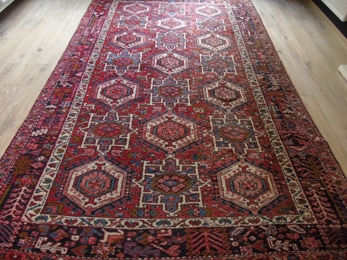 Beautiful Original Hand Knotted Persian Karadja Carpet 230 x 360 Cm !