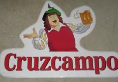 Cruzcampo advertising sign