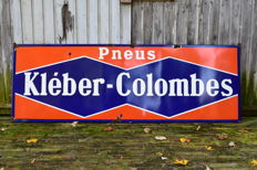 1954 Kleber Colombes enamel advertising sign