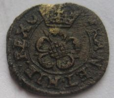 England and Ireland - Farthing Charles I 1625-1649 (Mintmark Lis) - copper