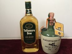 2 bottles - Tullamore Dew Irish Whiskey Ceramic Jug 75 cl  & Tullamore Dew Irish Whiskey 70cl