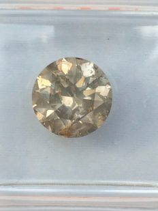 1.58 ct Brilliant cut Diamond natural untreated fancy  Yellowish Green   **No Reserve Price**