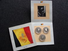 Belgium - Year pack (Proof) 1991 with 3 x 500 francs (French, Flemish and German) - silver