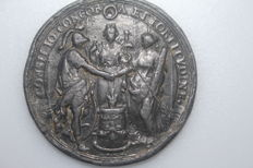 The Netherlands – medal 1691 'on the occasion of the crossing of King William III of England' – lead