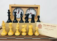 Antique Casino chess, with clock.