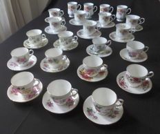 Collection - 22 Cup and saucers English Bone China