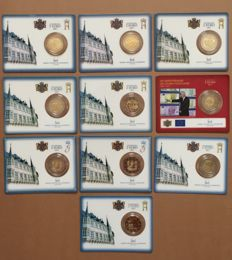 Luxembourg - 2 Euro 2007/2017 (10 pieces) in coin cards