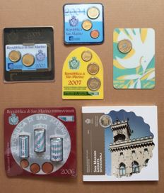 San Marino - year pack/ year collection 2015 in blister + 5 Euro coin 2016 + various mini kits