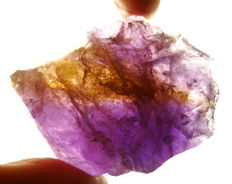 Rough Ametrine (Amethyst - Citrine)  - 8,0 x 6,2 x 3,3cm - 179gm