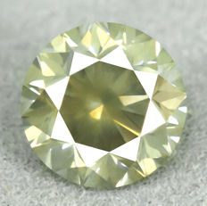 Diamond - 1.45 ct, Si1 - Natural Fancy Greenish Yellow