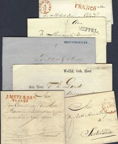 The Netherlands 1822/1866 - Ten post pieces for philately