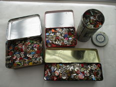 Collection of old pins, total approx. 4 kg