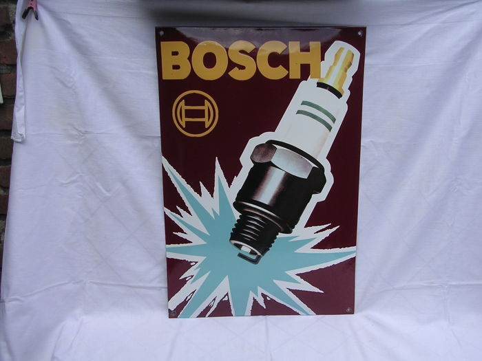 enamel sign for bosch spark plug late 20th century 60 x 40 cm weight 2 kg catawiki. Black Bedroom Furniture Sets. Home Design Ideas