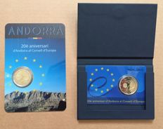 "Andorra – 2 Euro 2014 ""20 Years Council of Europe"" (2 pieces)"