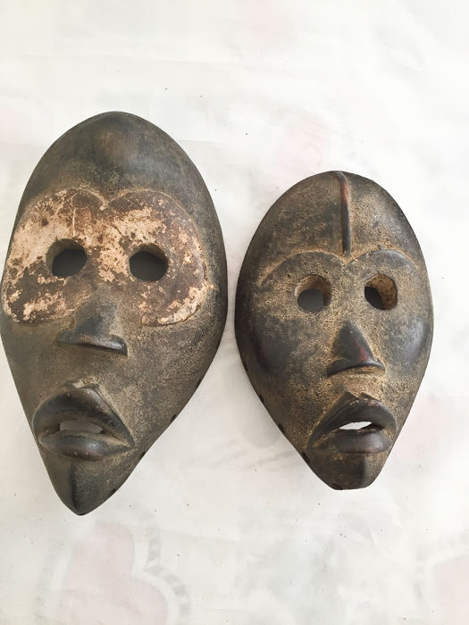 2 masks - DAN - Ivory Coast