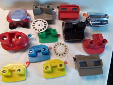 Lot with 12 view-masters GAF stereo viewer