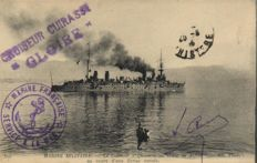 Naval vessels France 79 x - many from around WW1 - Cruisers, views of harbours, etc. - 1900/1940