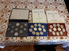 Italy, Republic – Divisional series 1986-1987-1988 (including silver)