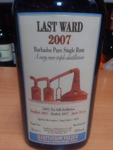 Habitation Velier - Last Ward 2007 Barbados pure single rum - 70cl & 59% vol