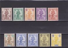 Malta 1922 - A selection between Stanley Gibbons 123/140