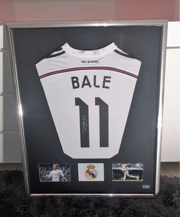 Gareth Bale - Real Madrid shirt - framed and with official ...