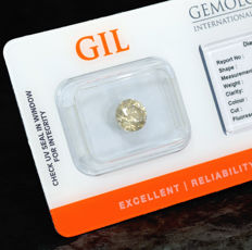 Diamond – 1.40 ct, Si1 – Natural Fancy Greenish Yellow