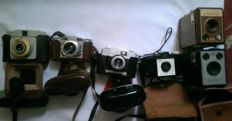 Vintage cameras various joblot of 6