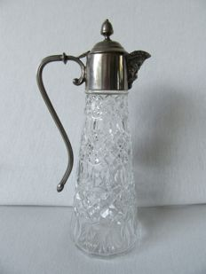 Claret Jug with silver mounts, England. 1st half of the 20th century.