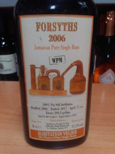 Habitation Velier - Forsyths 2006 Jamaican pure single rum - 70cl & 57,5%vol.