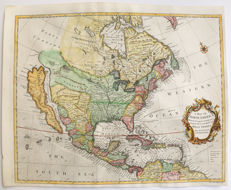 North America; R. W. Seale - A Map of North America with the European Settlements & Whatever Else Is Remarkable in ye West Indies, from the Latest and Best Observations - 1745