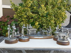 Collection of 6 pewter figurines