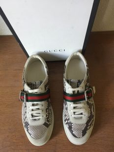 Gucci - trainers python printed/suede