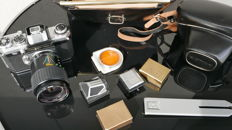 Very Rare ! Edixa Mat Reflex D with a lens, a trunk, and a case and accessories