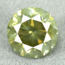 Diamond - 2.03 ct VS2 - Natural Fancy Dark Yellowish Green