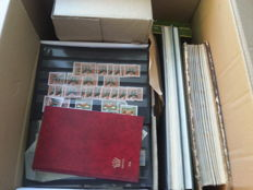 The Netherlands and Overseas - Miscellaneous batch of classic on cards, in bags and stock books.