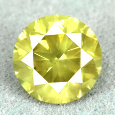 Diamond - 1.24 ct, VS2 - Natural Fancy Intense Greenish Yellow - VG/VG/VG