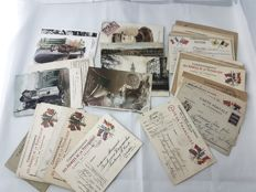 France - WW1 batch 60 military letter post cards des armees de la republique