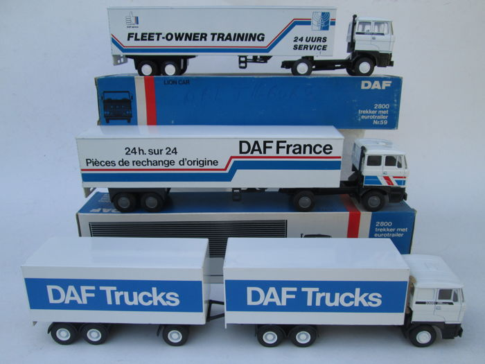 Lion Car - Scale 1/50 - Lot with 3 Lion-Car DAF Trucks: 3 x DAF Eindhoven Promotionals