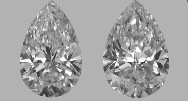 Pair of  Pear  Brilliants 0.61ct  total   E VVS2- F IF  IGI  - Original image 10EX  SERIAL # 300A-300D