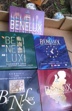 Benelux - Complete series of 5 Benelux year packs 2003/2007 (5 varieties) complete
