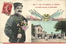 Military France 103 X + 2 folders (20 and 10 pieces) -Many around WW1 - Camps, barracks and ruins - 1900/1940