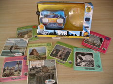 View-Master New York City Taxi Viewer from 2013 plus 8 old three-reel packets from 1954-1967
