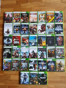 Lot of 38 XBOX 360 games