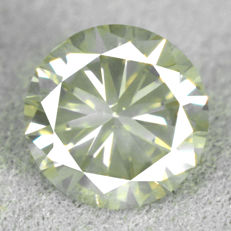 Diamond - 1.04 ct, NO RESERVE PRICE - Natural Fancy Light Greenish Yellow Si2