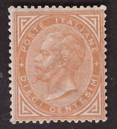 Kingdom of Italy - 10 cent, ochre yellow, DLR - Sass.  No. T17