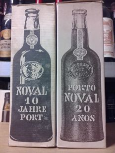 Noval 10 & 20 years old Tawny Port - 2 old bottlings