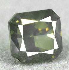 Diamond - 1.01 ct, SI1 - Natural Fancy Grayish Yellow
